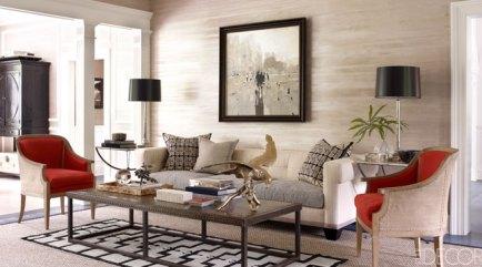 Living room of Connecticut home by Thom Filcia  via ED