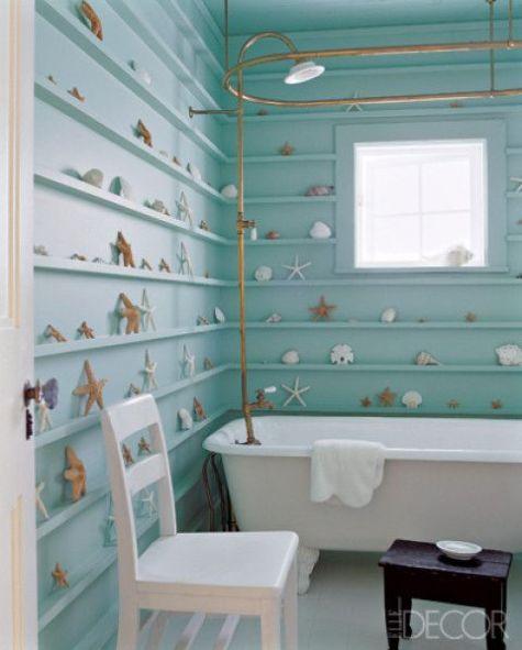 Seaside bathroom by Jacques Grange via Elle Decor