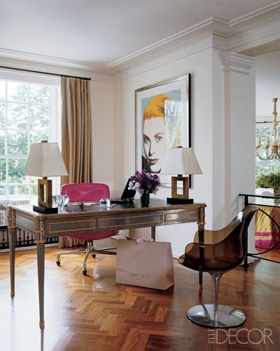 Sophisticated Herringbone floors via Elle Deocr