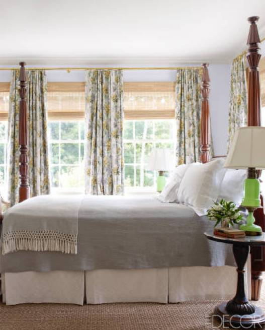 The master bedroom in the Nashville by Brookschmidy and Coleman in Elle Decor