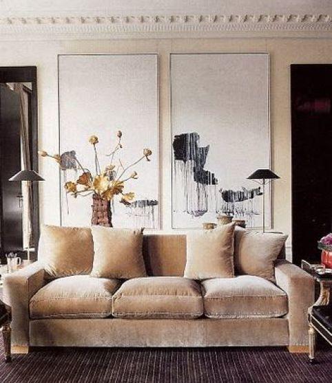 Valentino's living area by Jacques Grange via Habitually Chic