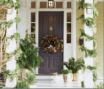 Porch entry via Canadian House and Home