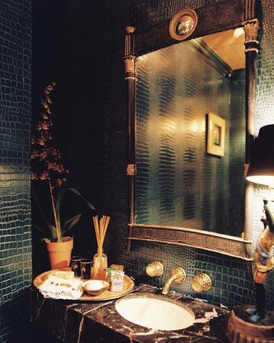 Ruthie Sommers Powder Room via Lonny