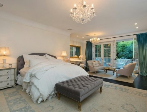 Master Bedroom of Jennifer Lawrence LA home via Lonny