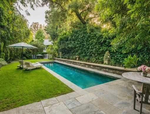 Pool of Jennifer Lawrence LA Home via Lonny
