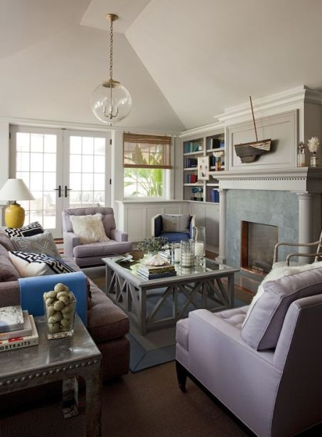 Philip Gorrivan chic and easy living room via Decor Pad
