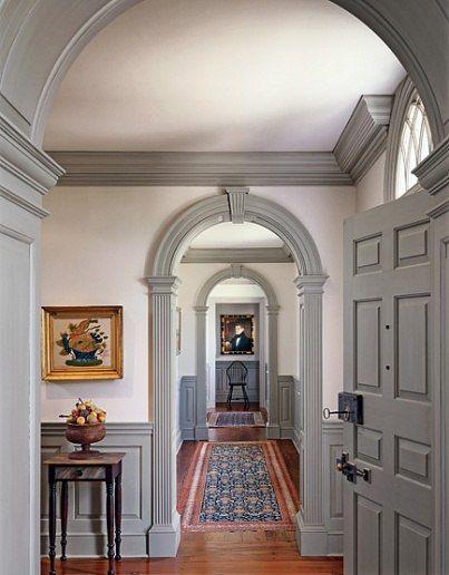 Traditional Home and Hallway via AD