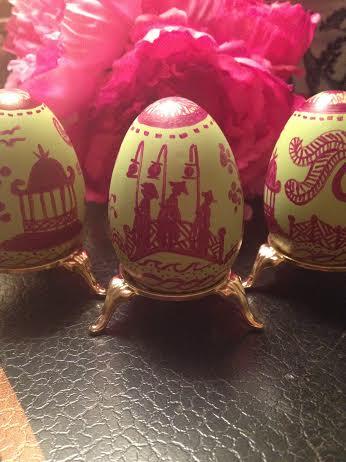 Chinoiserie Eggs by Dana Mahnke on Etsy Indigo Home 2