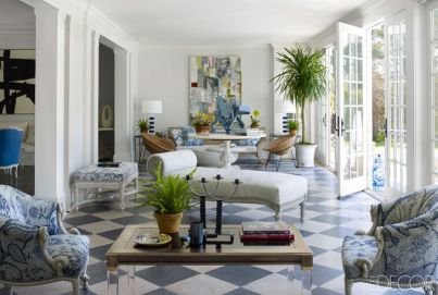 Cynthia Frank Southampton home via Elle Decor