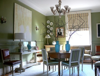 Dining area by Shelia Bridges via Elle Decor