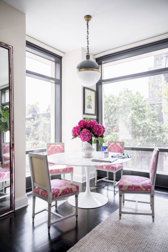 Dining room with lots of color by Nick Olsen