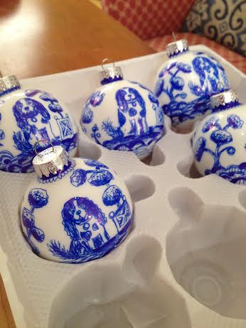 Hand Painted Ornaments of King Charles by Dana Mahnke on Etsy Indigo Home