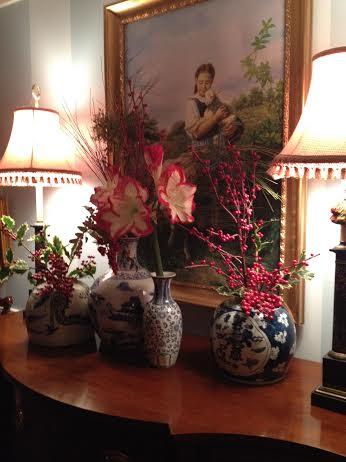 Interior Vignette in the home of Dana Mahnke on Etsy Indigo Home