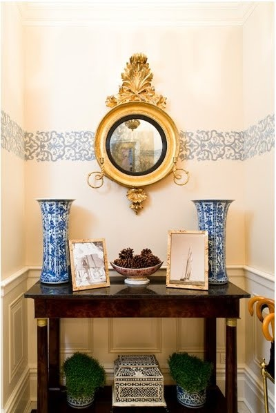 A stylish and lovely vignette by Sara Gilbane Interiors