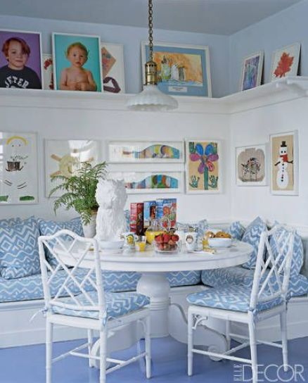 Aerin Lauder breakfast room via Elle Decor