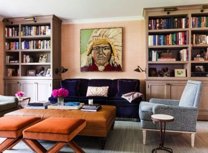 Chic and SOphisticated Living room by Sara Gilbane Interiors