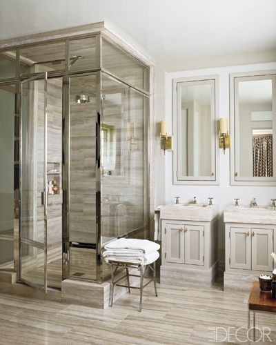 Fantastic shower via Elle Decor