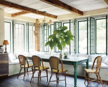 Incredible Breakfast Room of Windows via Elle Decor