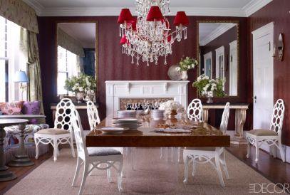 Jeffrey Bilhuber dining room via Elle Decor