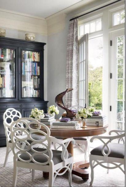 Luxe dining room by Alexa Hampton