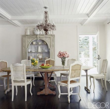 Rita Norona Schrager dining room via Elle Decor