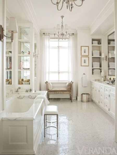 White bathroom via Veranda
