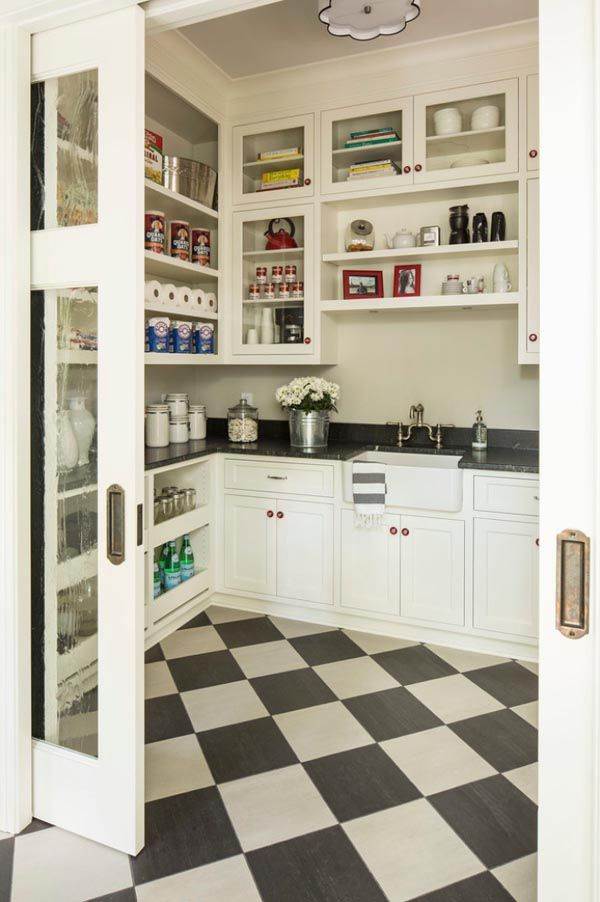 A fantastic full service pantry with glass pocket doors. & Pocket Doors | The Potted Boxwood