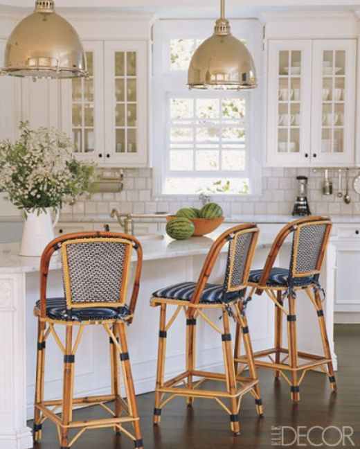 Bistro Chairs via Elle Decor