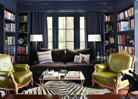 Library by Jan Showers via Traditional Home
