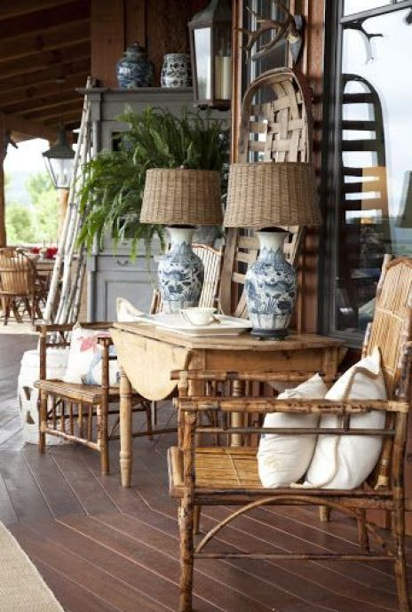 Holly Mathis Interiors Rattan furniture