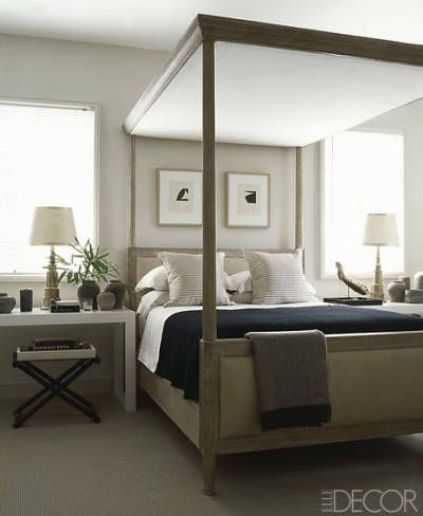Randall Powers guest bedroom via Elle Decor