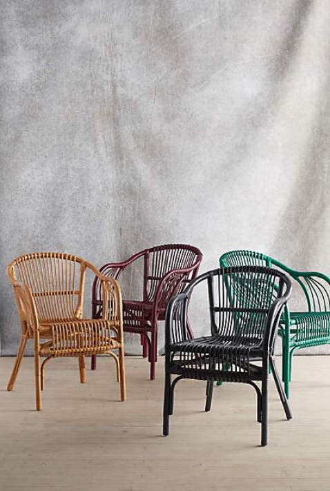 Rattan chairs via Anthropologie