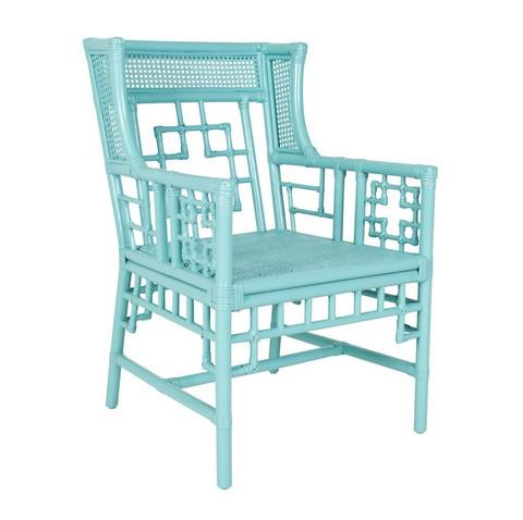 Society Social Turquoise Rattan Chair