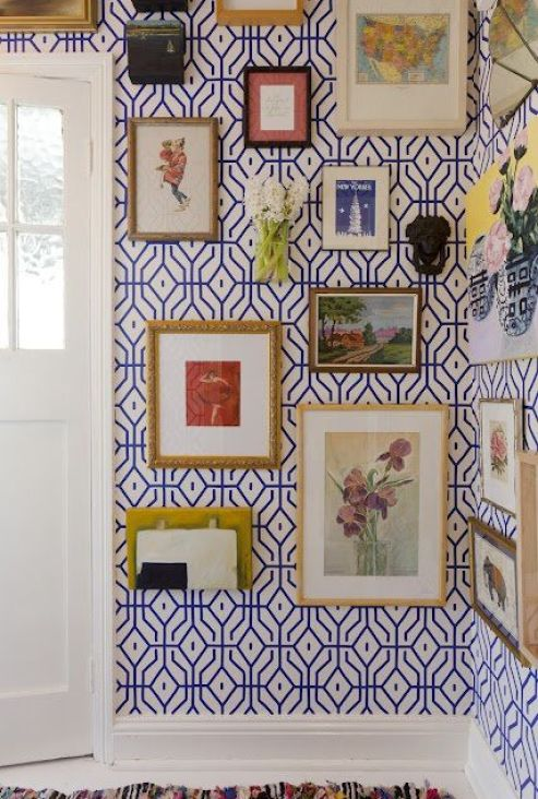 Anna Spiro designed gallery wall via The Vivant