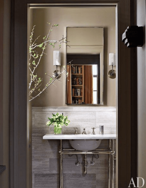 Classic Bathroom with clean lines via AD