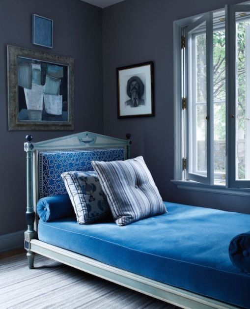 Daybed in Connecticut home of Emma Jane Pilkington