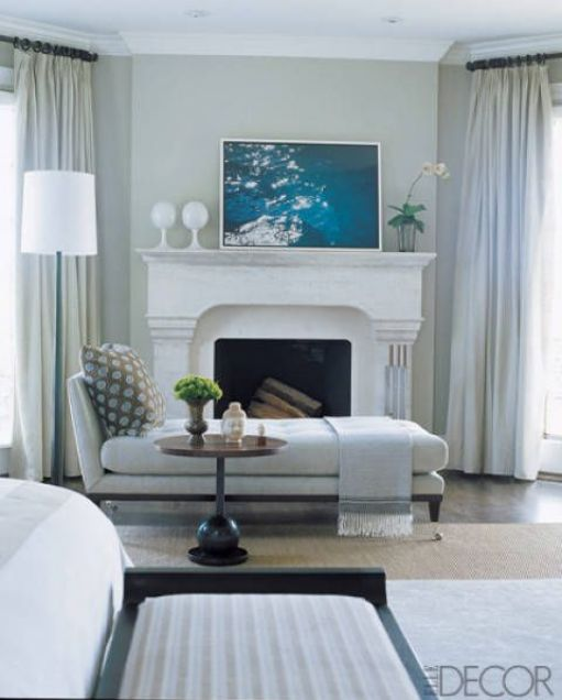 Daybed in Connecticut study by Emma Jane Pilkingtons Connecticut Study via Elle Decor