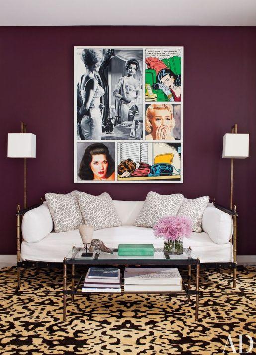 daybed in LA room by Daniel Romualdez via AD