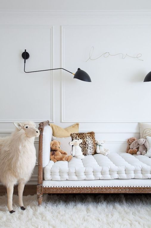 daybed in a beautiful nursery via style me pretty