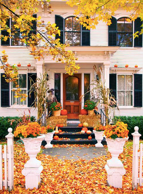 Fall door decor via Veranda