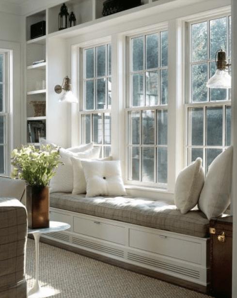 Shades of white and gray via Elle Decor