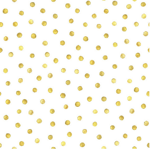 Walls need love removable wallpaper in gold dots
