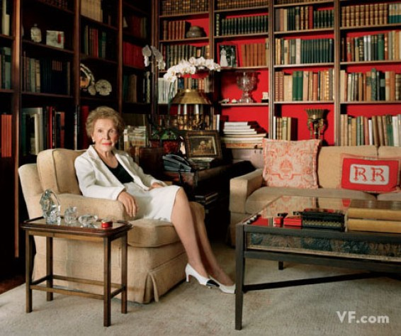 Nancy Reagan in her study via Vanity Fair
