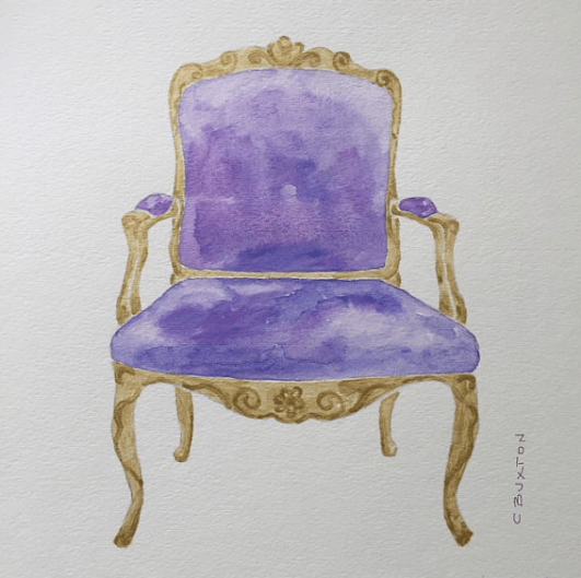 C Buxton Art French Chair