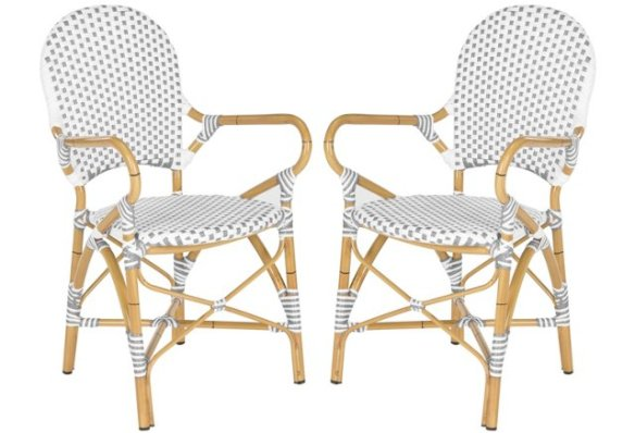 Gray Odean Stackable Armchairs via OKL