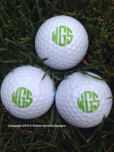 Kristin Henchel Monogram Gold Balls