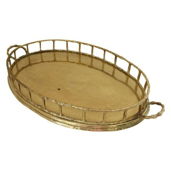 Brass Bamboo Tray from Chairish