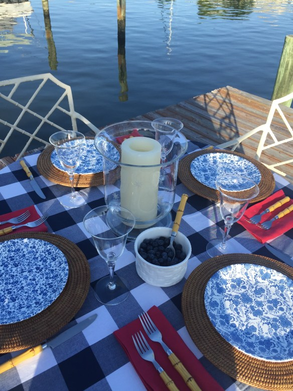 Fourth of July tablescape by The Potted Boxwood 4