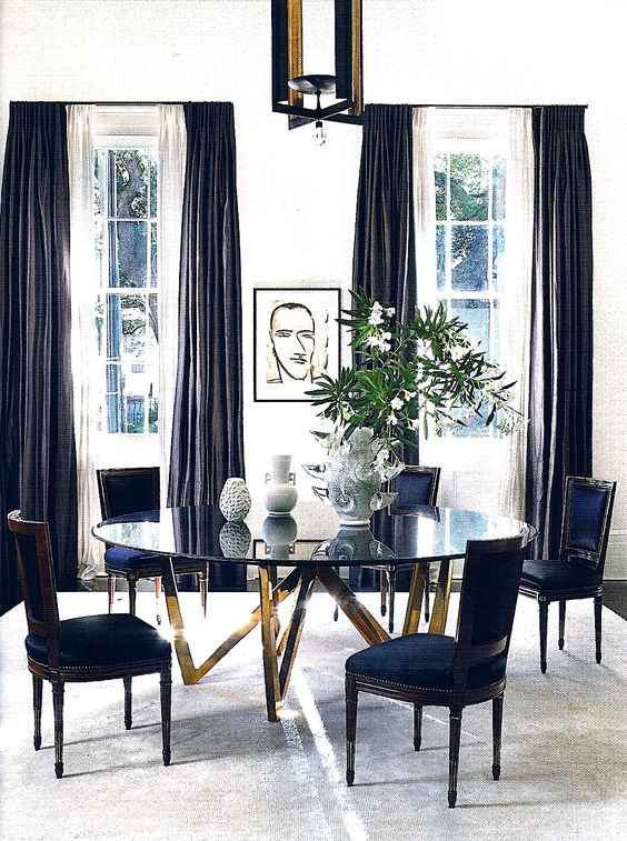 Lee Ledbetter designed dining room via Architectural Digest