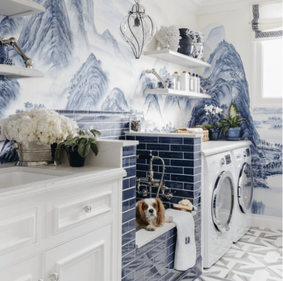 SF Showhouse Laundry Room 2017 by Dina Bandman